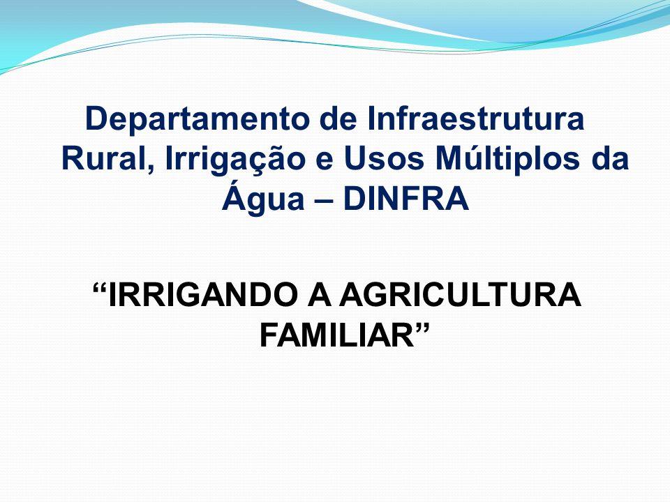 Departamento de Infraestrutura Rural, Irrigação e Usos Múltiplos da Água – DINFRA IRRIGANDO A AGRICULTURA FAMILIAR