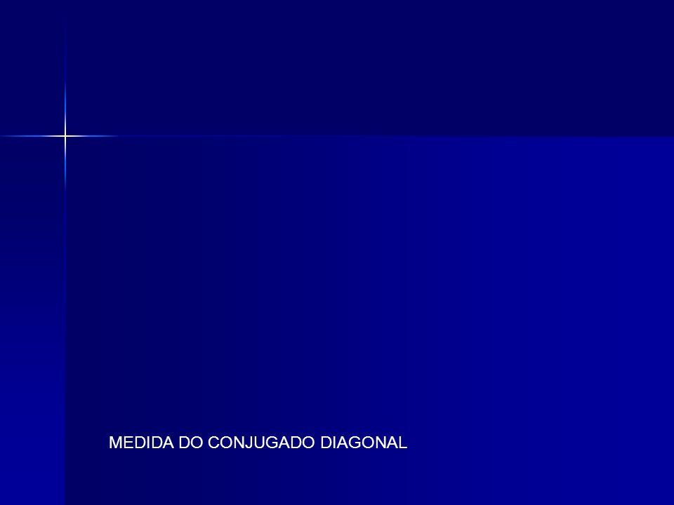 MEDIDA DO CONJUGADO DIAGONAL