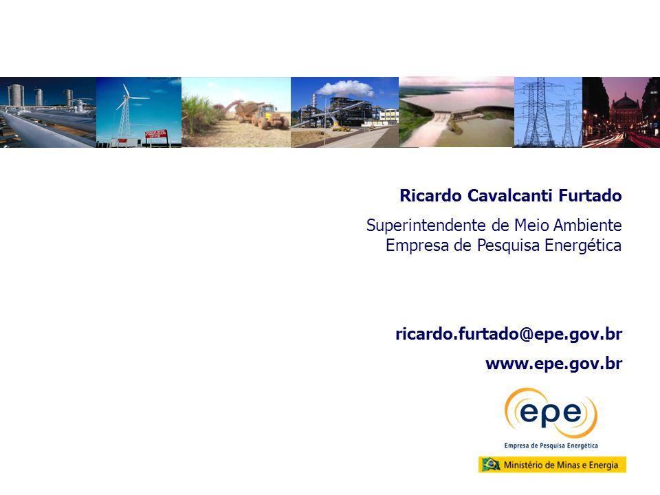 Ricardo Cavalcanti Furtado Superintendente de Meio Ambiente Empresa de Pesquisa Energética ricardo.furtado@epe.gov.br www.epe.gov.br
