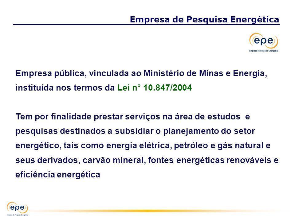 Empresa pública, vinculada ao Ministério de Minas e Energia, instituída nos termos da Lei n° 10.847/2004 Tem por finalidade prestar serviços na área d