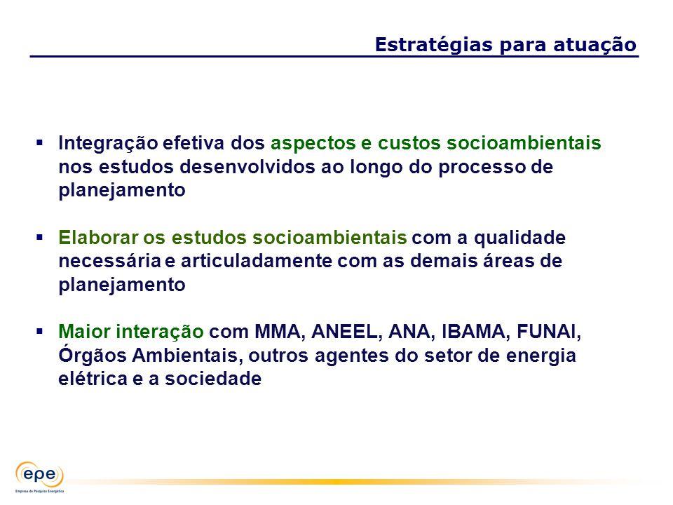 Integração efetiva dos aspectos e custos socioambientais nos estudos desenvolvidos ao longo do processo de planejamento Elaborar os estudos socioambie