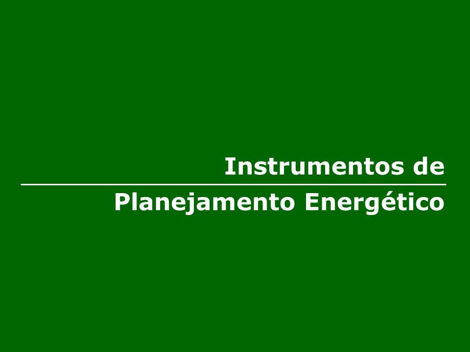 Instrumentos de Planejamento Energético