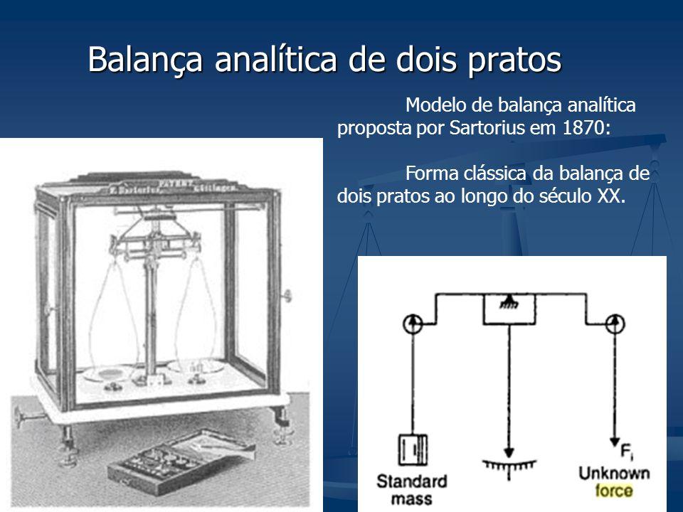 A balança de dois pratos é a mais antiga e tradicional balança analítica.