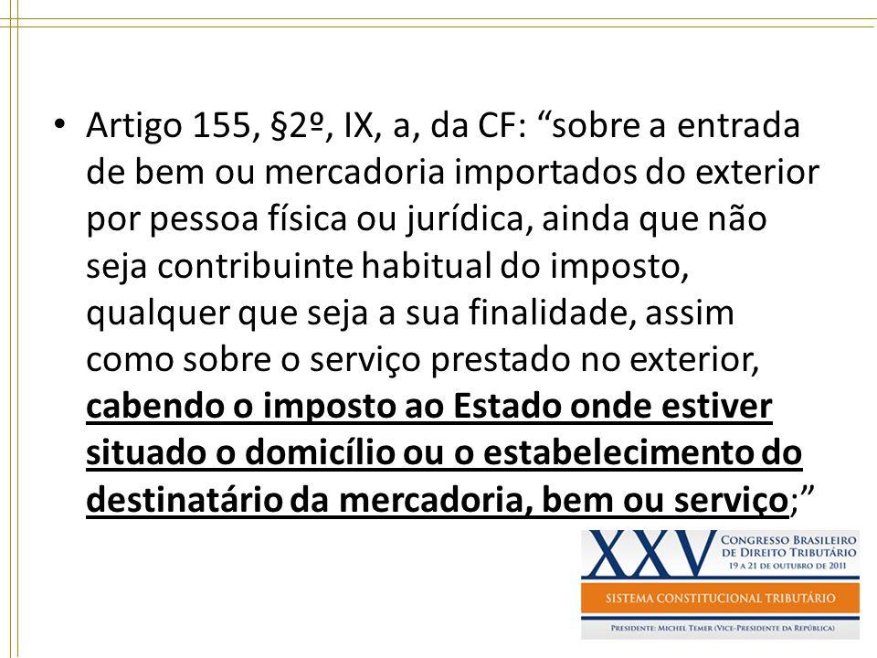 Artigo 155, §2º, IX, a, da CF: sobre a entrada de bem ou mercadoria importados do exterior por pessoa física ou jurídica, ainda que não seja contribui