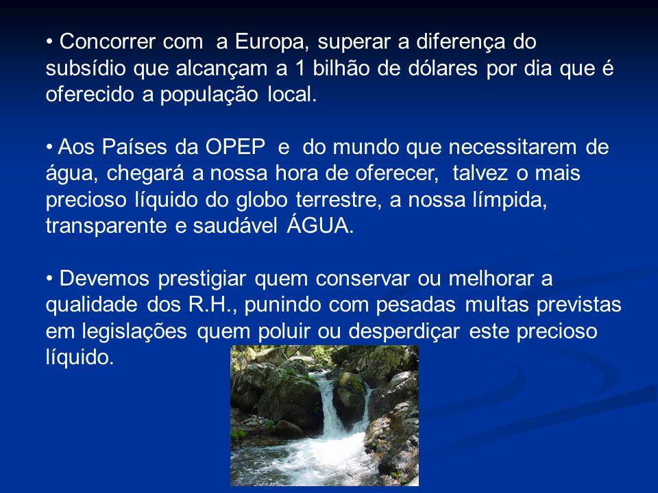 Produtor de Água - Exemplo Área total bacia: 23.500 ha Área total bacia: 23.500 ha Área c/ agro-pecuária: 15.400 ha, sendo 1.600 ha irrigados Área c/ agro-pecuária: 15.400 ha, sendo 1.600 ha irrigados Peq.