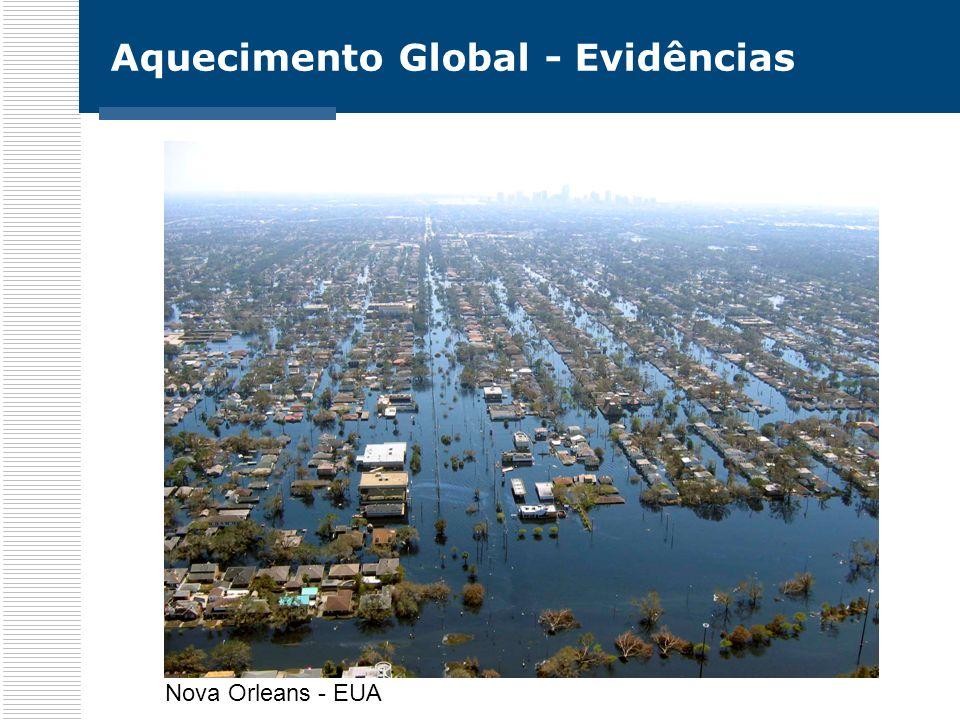 Aquecimento Global - Evidências América do Sul