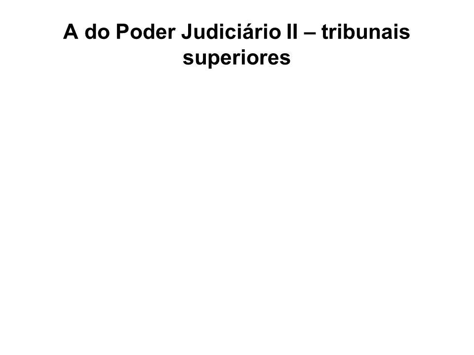 A do Poder Judiciário II – tribunais superiores