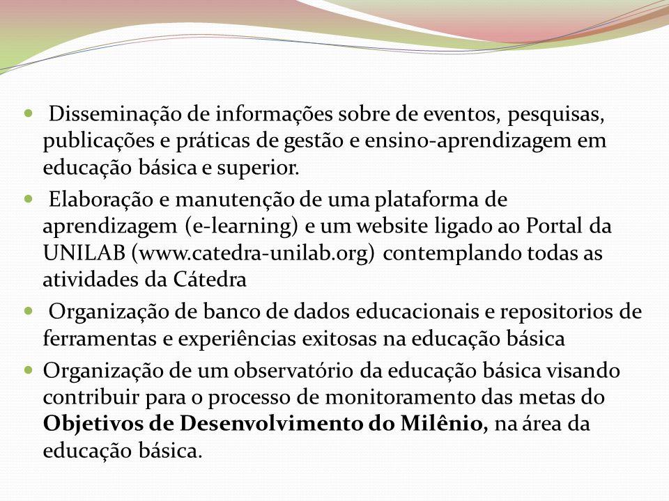 Disseminação de informações sobre de eventos, pesquisas, publicações e práticas de gestão e ensino-aprendizagem em educação básica e superior. Elabora
