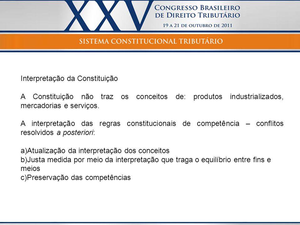 O Texto Constitucional resolve conflitos.Regra geral - Art.