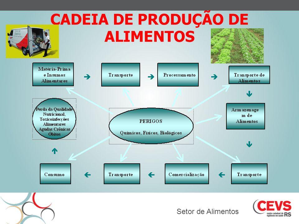 CADEIA DE PRODUÇÃO DE ALIMENTOS Setor de Alimentos