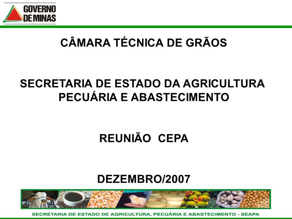 CRÉDITO RURAL SAFRAS 02/03 - 03/04 - 04/05 - 05/06 Banco do Brasil S/A CÂMARA TÉCNICA DE GRÃOS SECRETARIA DE ESTADO DA AGRICULTURA PECUÁRIA E ABASTECI
