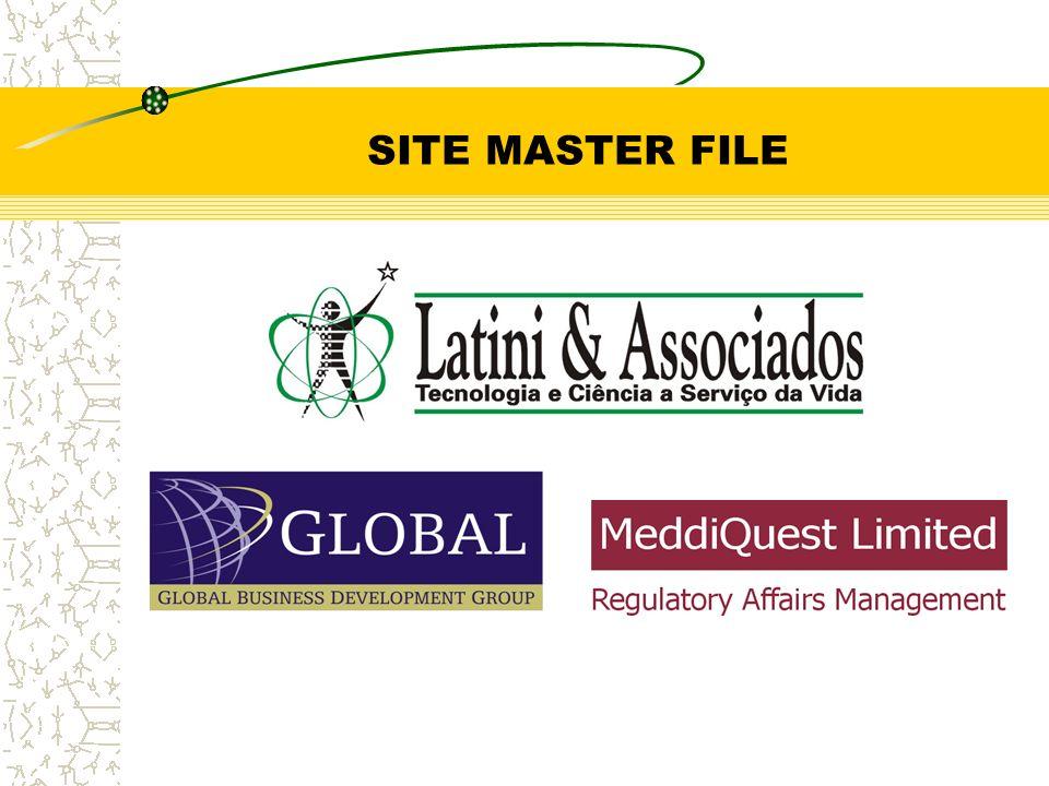 Site Master File Regras Gerais: Todos os documentos que irão compor o Site Master File (SMF) deverão ter o formato A4, incluindo-se os Lay-Outs, listas de Produtos, Fotocópias, etc.