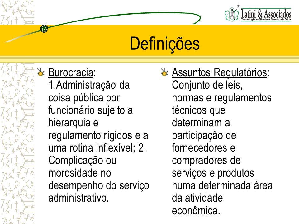 Definições Burocracia: 1.Administração da coisa pública por funcionário sujeito a hierarquia e regulamento rígidos e a uma rotina inflexível; 2. Compl