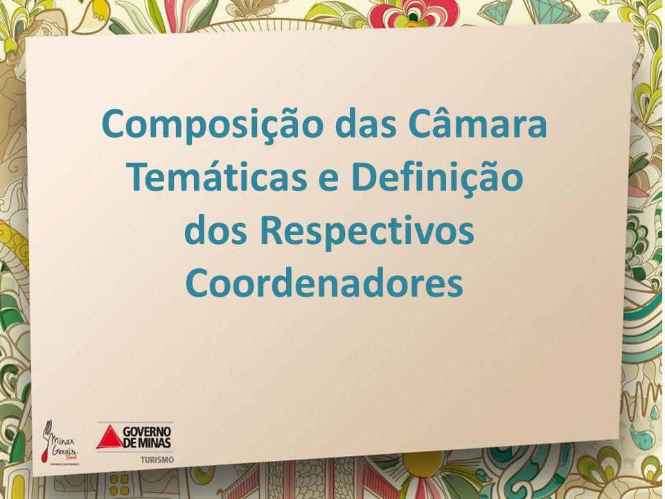 Composição das Câmara Temáticas e Definição dos Respectivos Coordenadores