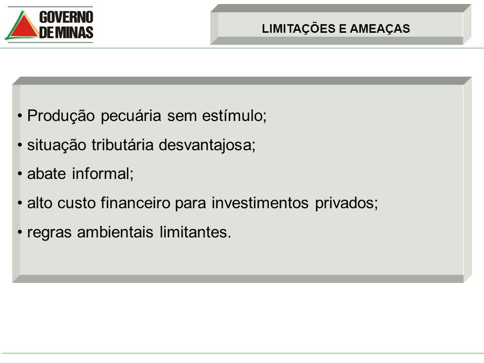 SUGESTÕES - Acelerar junto à SEF o processo de reativação do crédito presumido de 7% incidente sobre os valores das exportações resultantes do abate de animais originários do Estado, que objetiva a consolidação da indústria da carne em Minas Gerais.