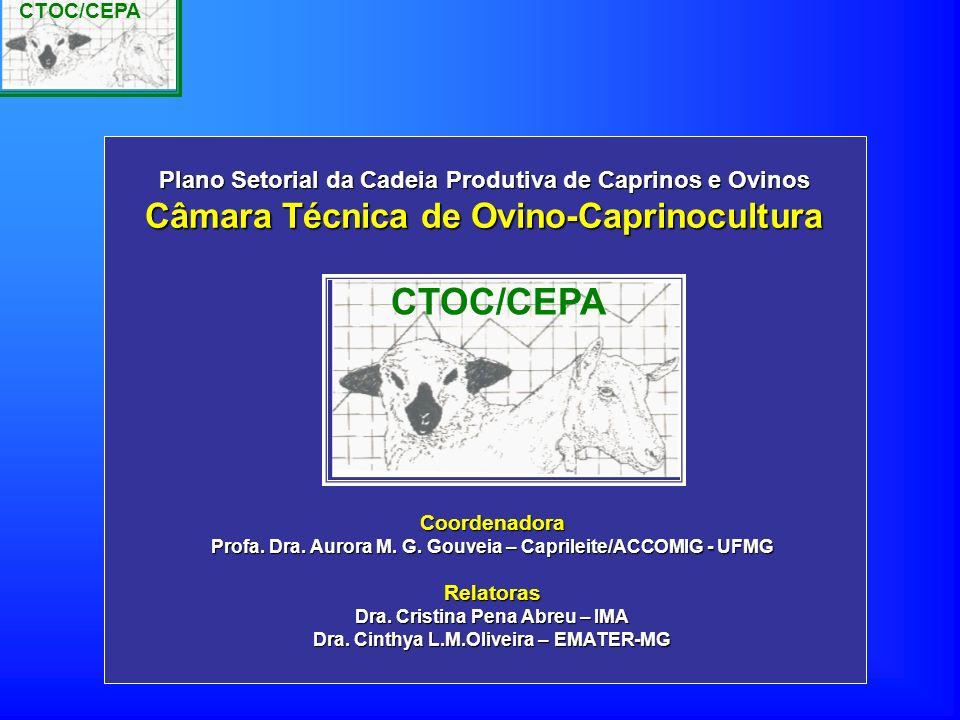 CTOC/CEPA Coordenadora Profa. Dra. Aurora M. G. Gouveia – Caprileite/ACCOMIG - UFMG Relatoras Dra. Cristina Pena Abreu – IMA Dra. Cinthya L.M.Oliveira