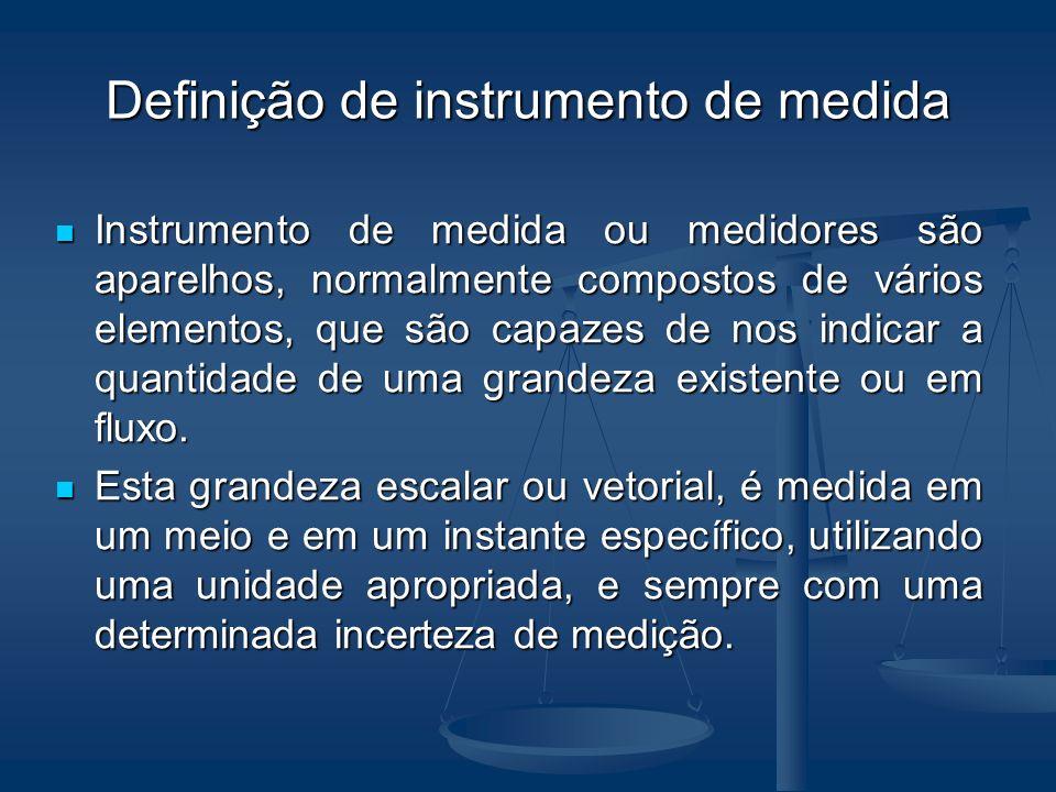 Definições Neste texto: Neste texto: Instrumento de medição tem sido preferido para medidores pequenos, portáteis e encapsulados em uma única unidade.