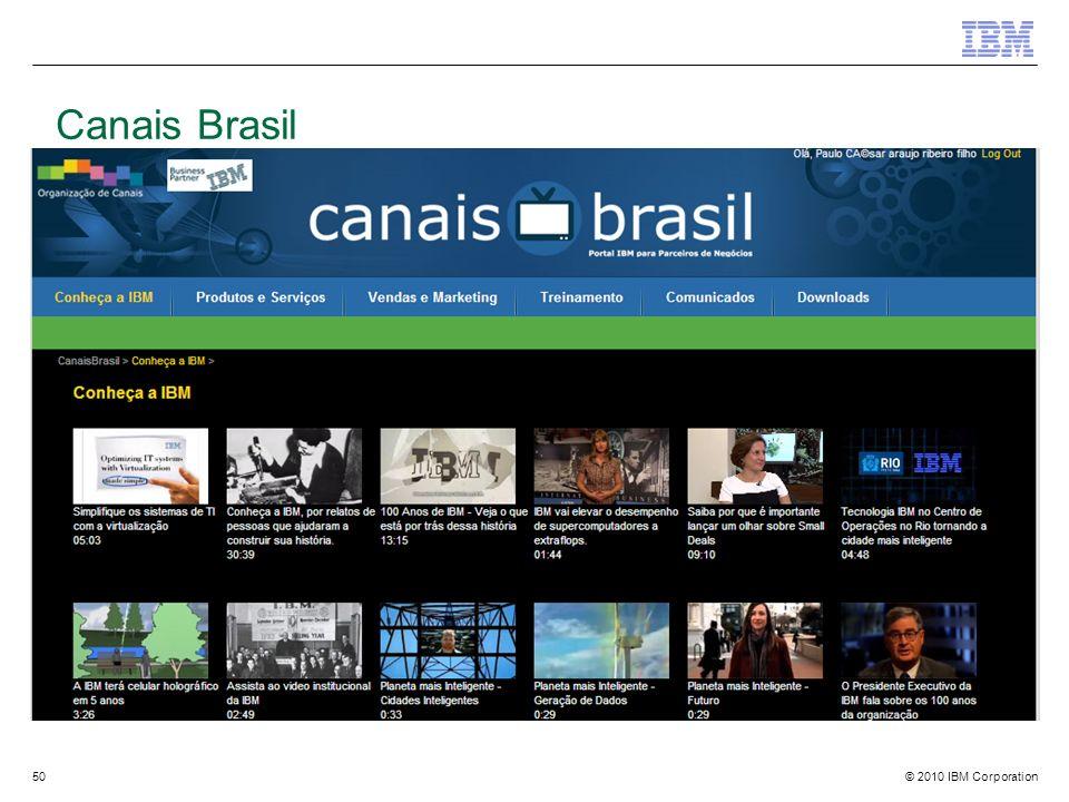 © 2010 IBM Corporation50 Canais Brasil