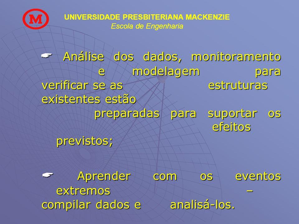 UNIVERSIDADE PRESBITERIANA MACKENZIE Escola de Engenharia Análise dos dados, monitoramento e modelagem para verificar se as estruturas existentes estã