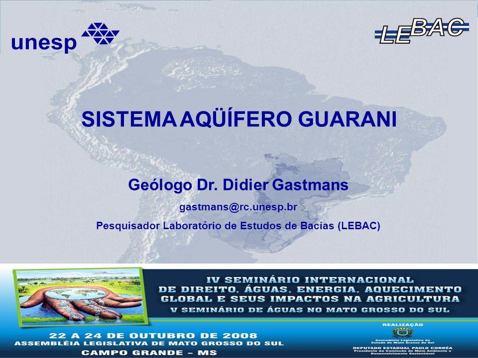 Atividades LEBAC – Projeto Guarani Modelo Hidrogeológico Conceitual do SAG Suporte a Construção do Modelo Numérico Mapa Hidrogeológico do SAG Informe Final de Hidrogeologia Compilação de Informação Produzida Cálculo de Reserva e Zoneamentos do SAG
