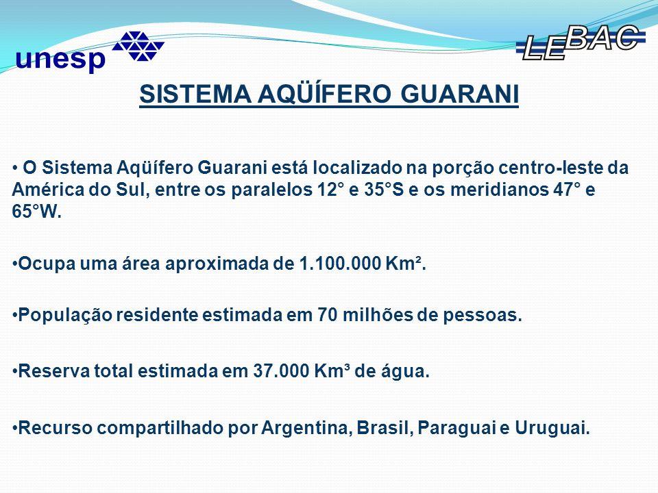 228.255 Km² 87.535 Km² 36.171 Km² 39.367 Km² 38.585 Km² 7.217 Km² 189.451 Km² 119.525 Km² 154.680 Km² 44.132 Km² 142.959 Km² Sistema Aqüífero Guarani