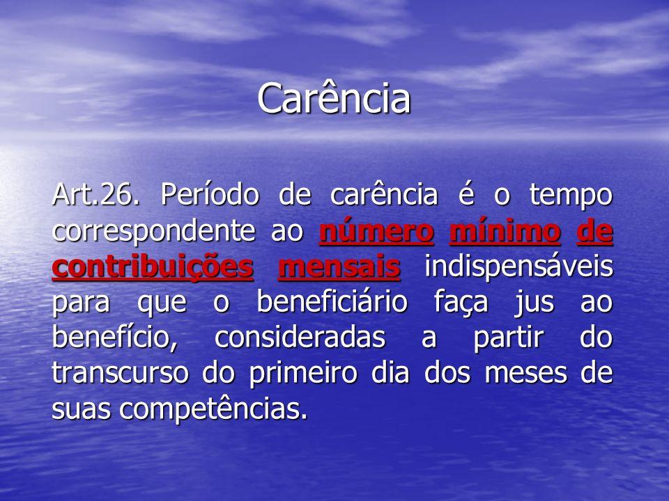 PERÍODO DE CARÊNCIA Art.29.