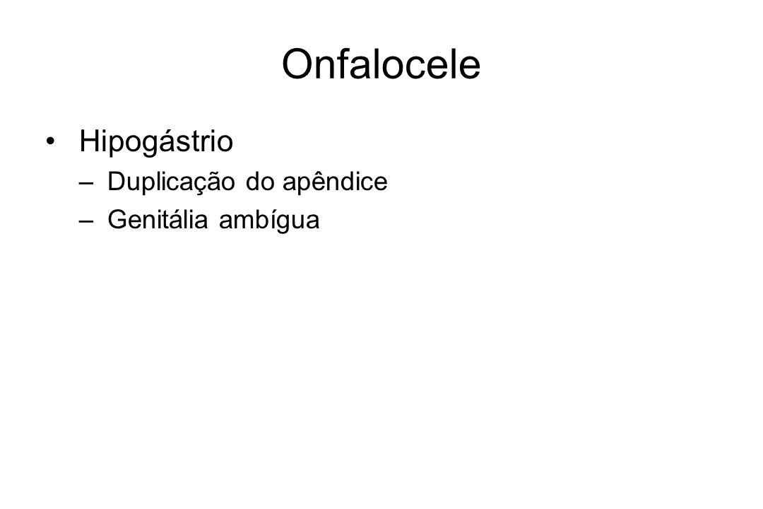 Onfalocele Hipogástrio – Duplicação do apêndice – Genitália ambígua