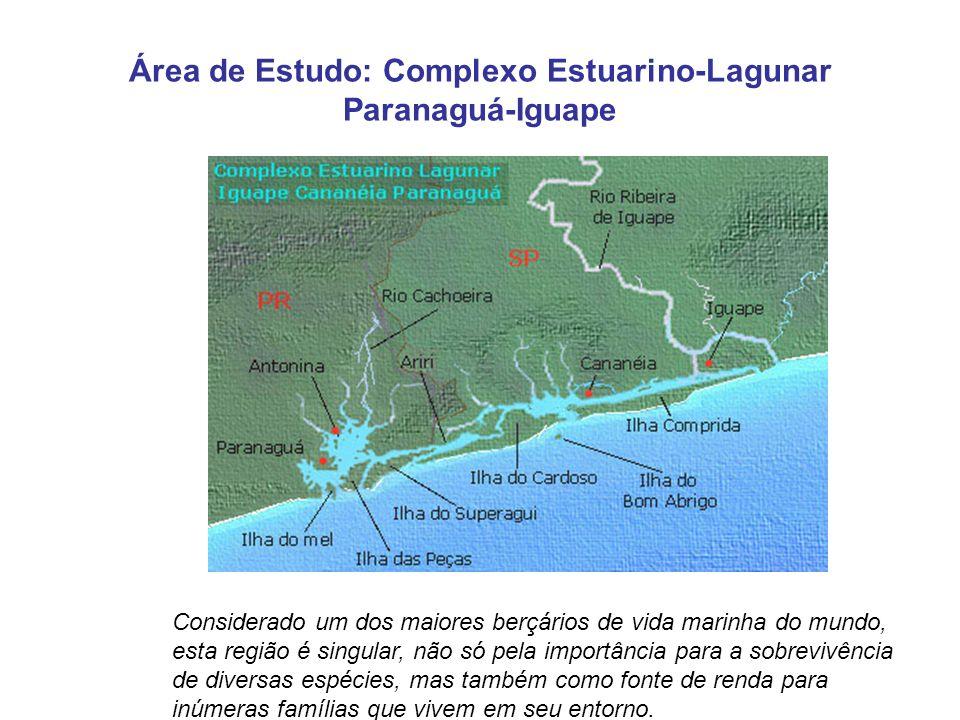 Área de Estudo: Complexo Estuarino-Lagunar Paranaguá-Iguape Considerado um dos maiores berçários de vida marinha do mundo, esta região é singular, não