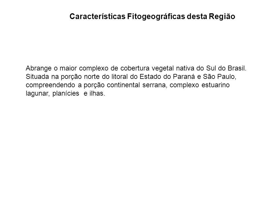 Características Fitogeográficas desta Região Abrange o maior complexo de cobertura vegetal nativa do Sul do Brasil. Situada na porção norte do litoral