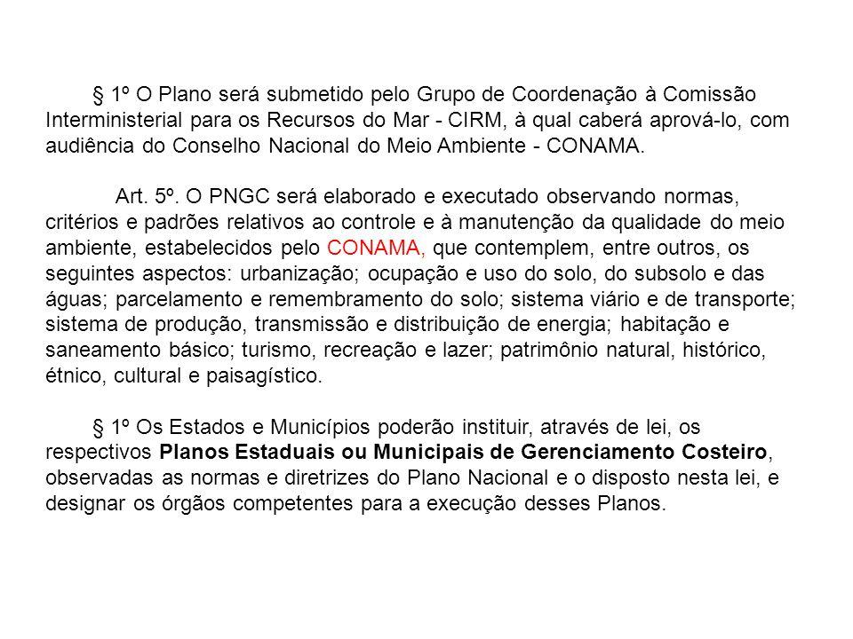 § 1º O Plano será submetido pelo Grupo de Coordenação à Comissão Interministerial para os Recursos do Mar - CIRM, à qual caberá aprová-lo, com audiênc