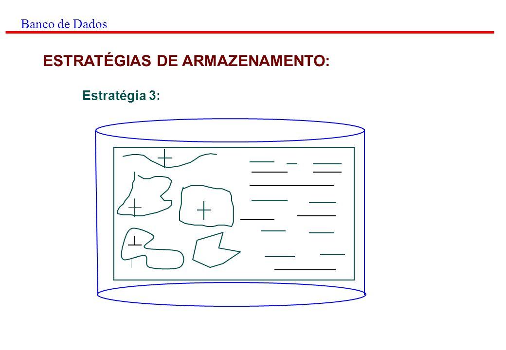 Banco de Dados ESTRATÉGIAS DE ARMAZENAMENTO: Estratégia 3: