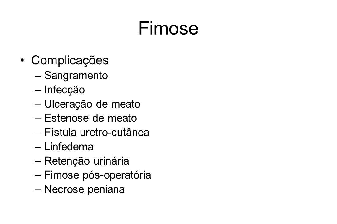 Fimose Complicações –Parafimose –Deslocamento do Plastibell® Cuidado.