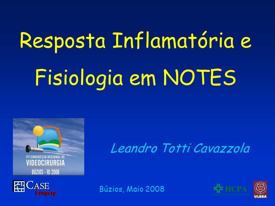 C ASE Surgery C ASE Surgery Leandro Totti Cavazzola Búzios, Maio 2008 Resposta Inflamatória e Fisiologia em NOTES