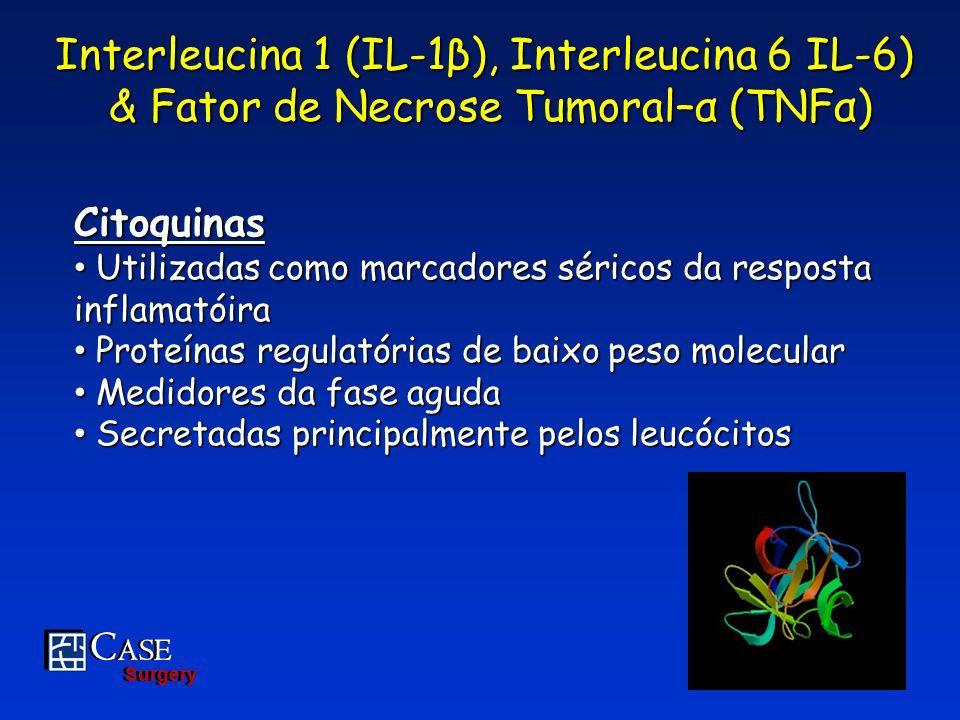 C ASE Surgery C ASE Surgery Interleucina 1 (IL-1β), Interleucina 6 IL-6) & Fator de Necrose Tumoral–α (TNFα) & Fator de Necrose Tumoral–α (TNFα) Citoq