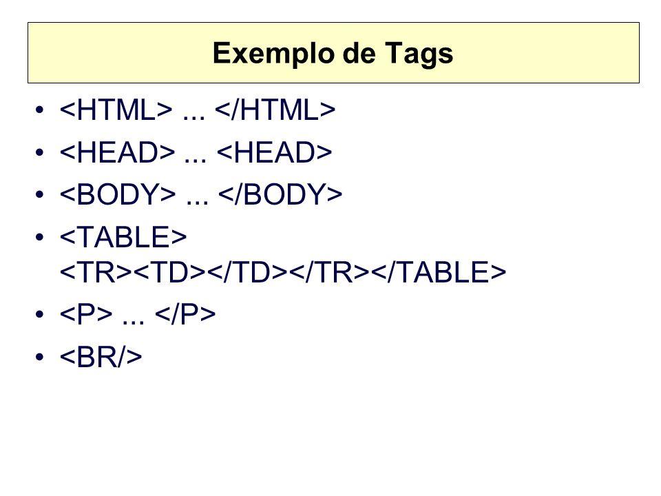 Exemplo de Tags......