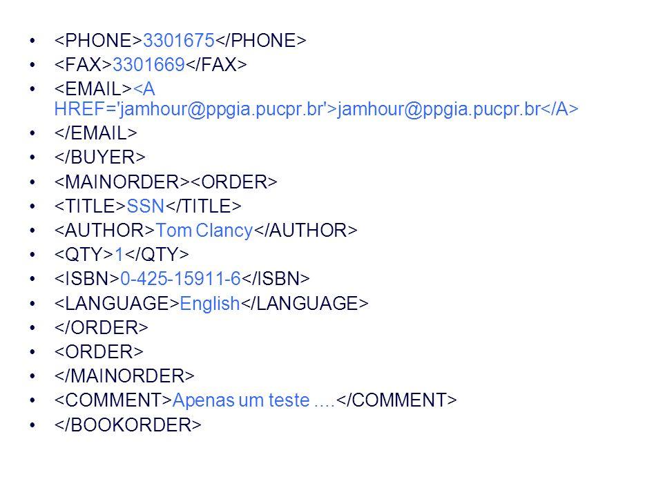 3301675 3301669 jamhour@ppgia.pucpr.br SSN Tom Clancy 1 0-425-15911-6 English Apenas um teste....
