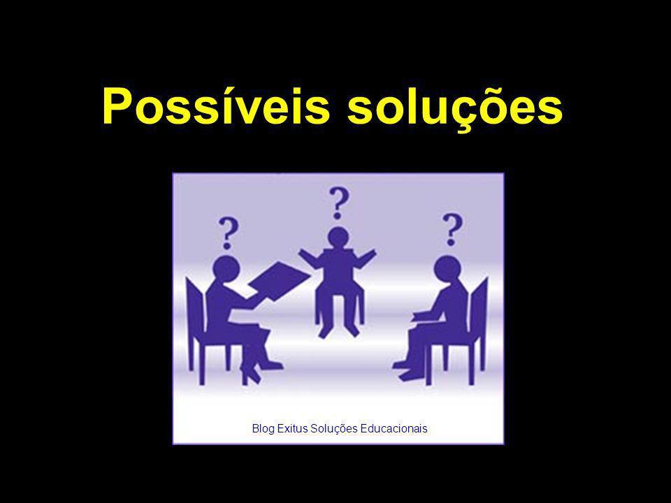 Possíveis soluções Blog Exitus Soluções Educacionais