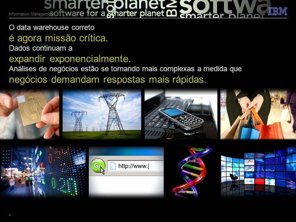 © 2011 IBM Corporation Information Management 4 Dados continuam a expandir exponencialmente.