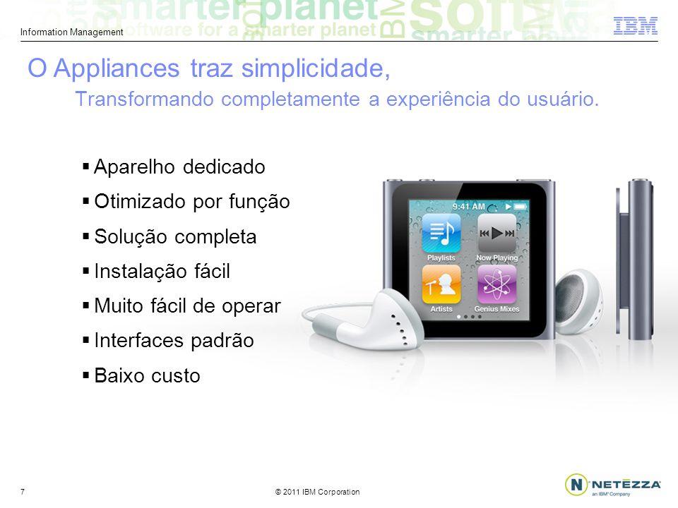 © 2011 IBM Corporation Information Management 7 Transformando completamente a experiência do usuário.