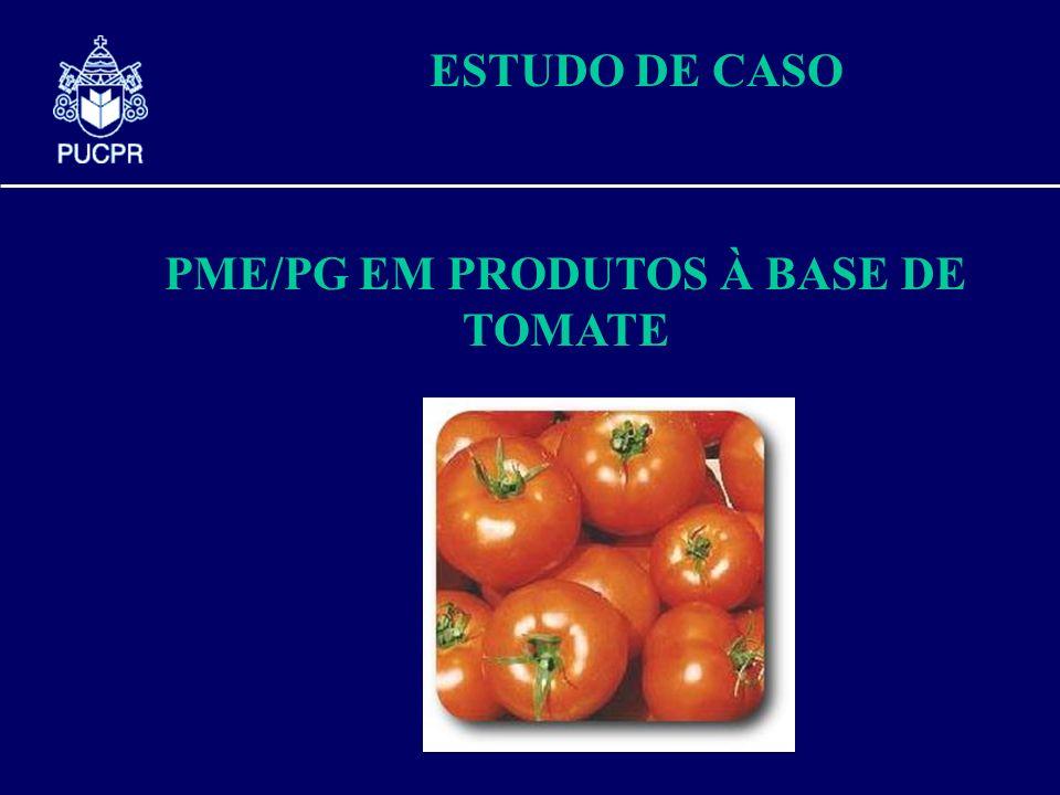 ESTUDO DE CASO PME/PG EM PRODUTOS À BASE DE TOMATE