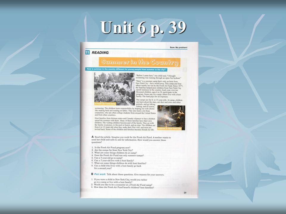 Unit 6 p. 39