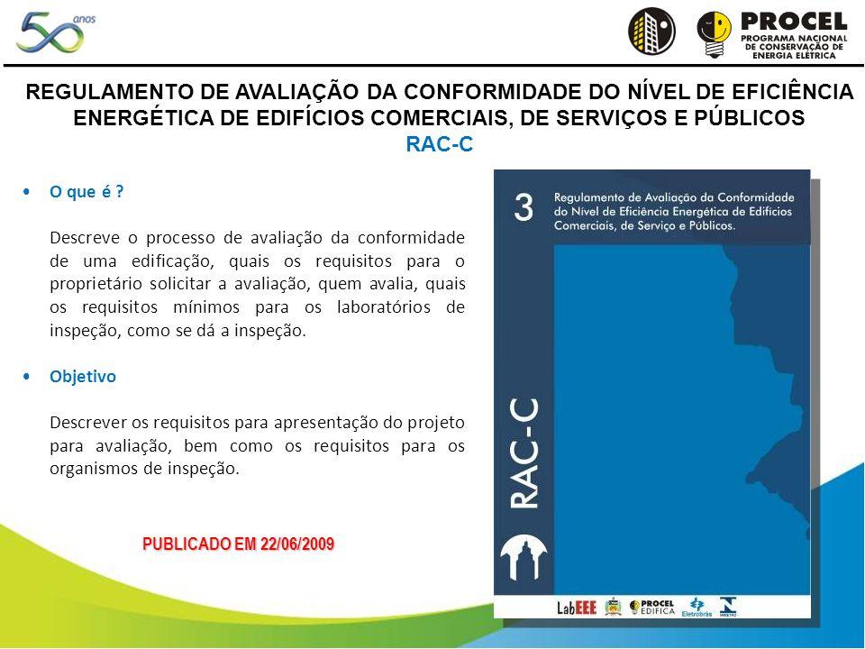 REGULAMENTO DE AVALIAÇÃO DA CONFORMIDADE DO NÍVEL DE EFICIÊNCIA ENERGÉTICA DE EDIFÍCIOS COMERCIAIS, DE SERVIÇOS E PÚBLICOS RAC-C PUBLICADO EM 22/06/2009 O que é .