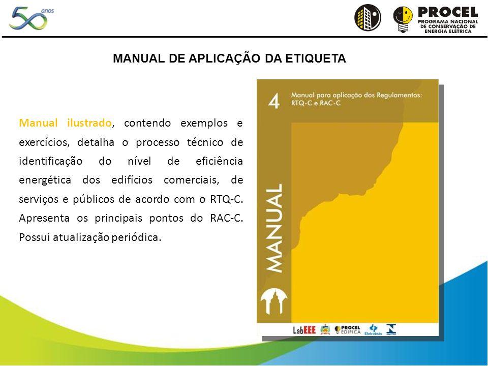 Manual ilustrado, contendo exemplos e exercícios, detalha o processo técnico de identificação do nível de eficiência energética dos edifícios comerciais, de serviços e públicos de acordo com o RTQ-C.