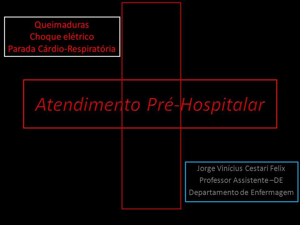 Jorge Vinícius Cestari Felix Professor Assistente –DE Departamento de Enfermagem Queimaduras Choque elétrico Parada Cárdio-Respiratória