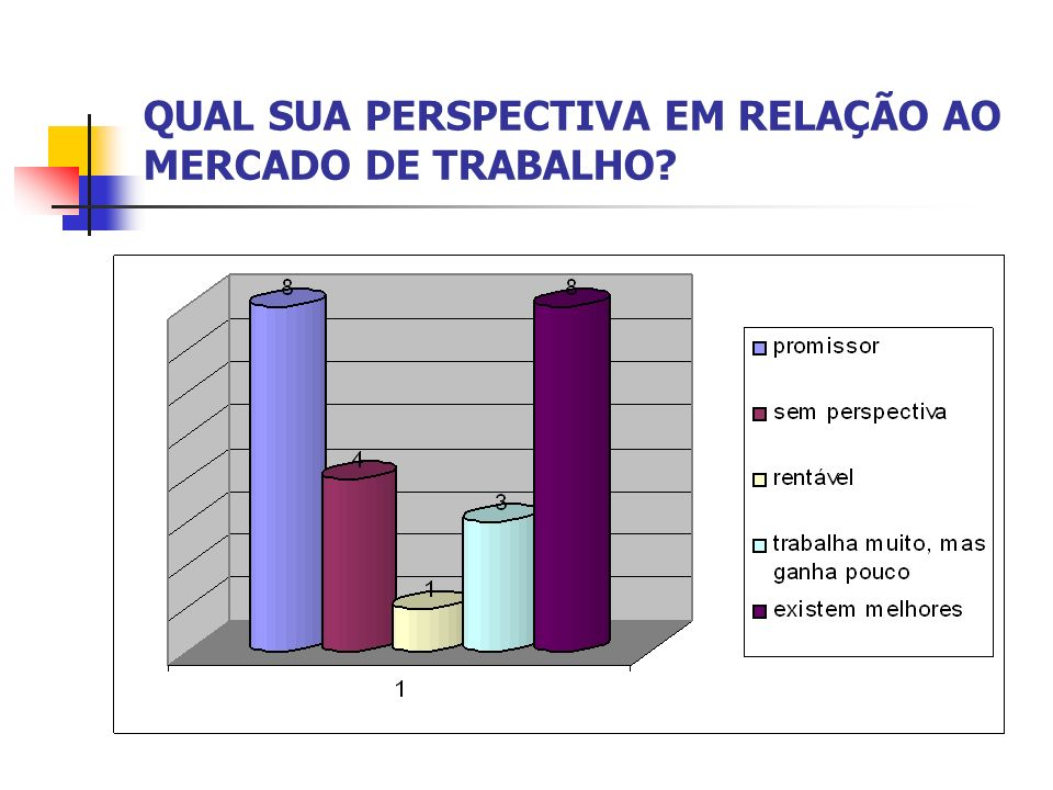 QUAL SUA PERSPECTIVA EM RELAÇÃO AO MERCADO DE TRABALHO?