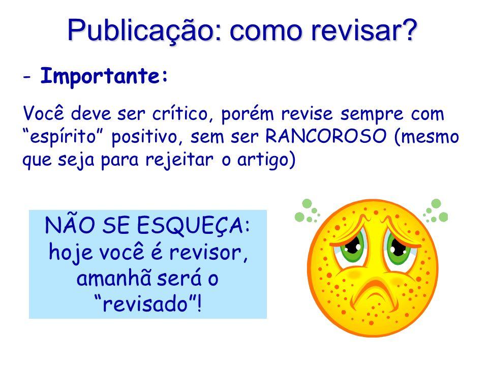 Publicação: como revisar.
