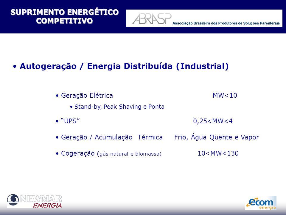 Economia Confiabilidade Competitividade Gestão Energética Integrada Utilidades Eficientes Perfil Energético Otimizado MINIMIZANDO RISCOS E CUSTOS Suprimento Competitivo