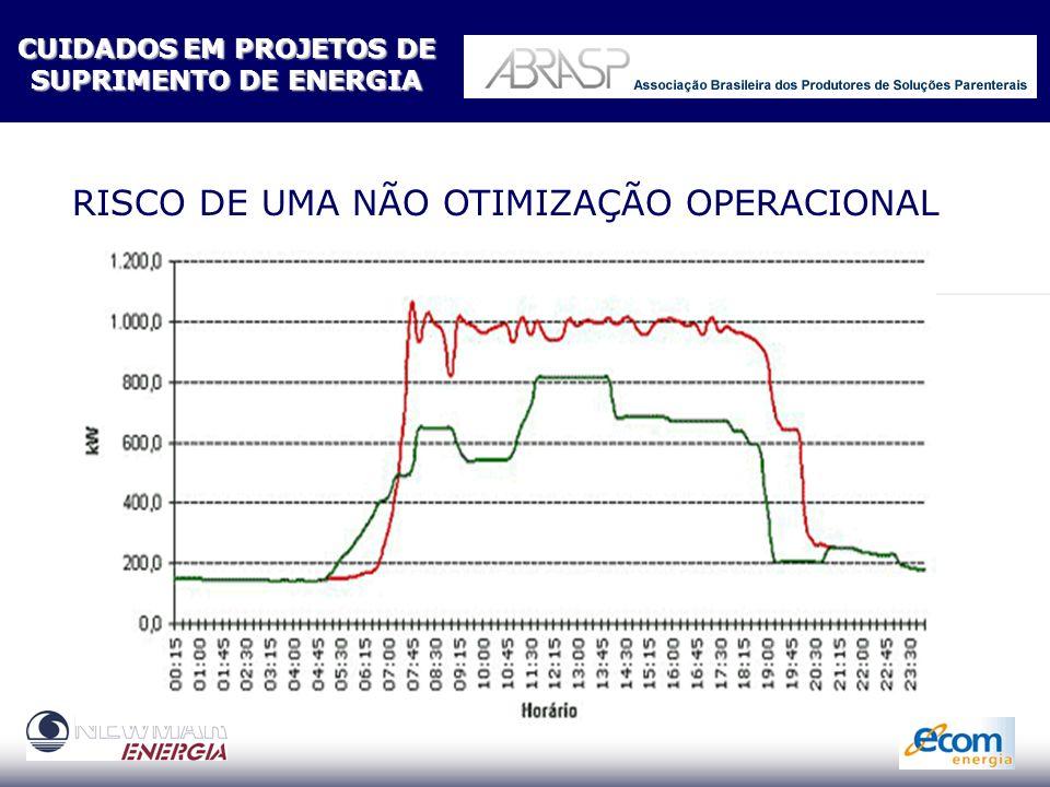 RISCO DE UMA NÃO OTIMIZAÇÃO DE PERFIL DE CARGA CUIDADOSEM PROJETOS DE CUIDADOS EM PROJETOS DE SUPRIMENTO DE ENERGIA SUPRIMENTO DE ENERGIA