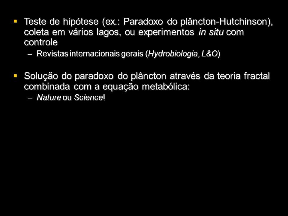 Solução do paradoxo do plâncton através da teoria fractal combinada com a equação metabólica: Solução do paradoxo do plâncton através da teoria fracta