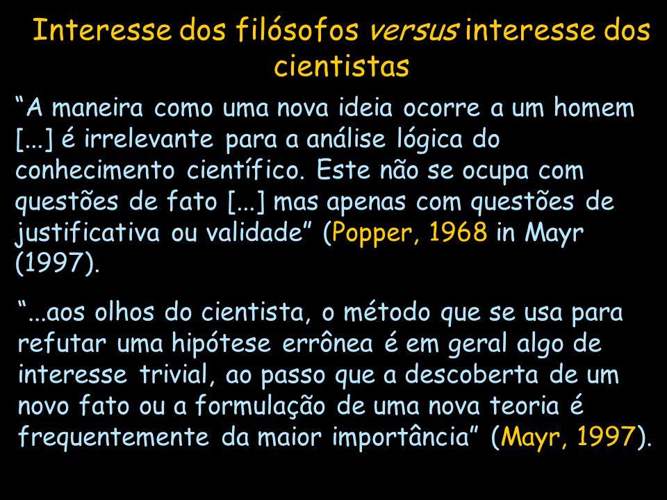 A maneira como uma nova ideia ocorre a um homem [...] é irrelevante para a análise lógica do conhecimento científico. Este não se ocupa com questões d